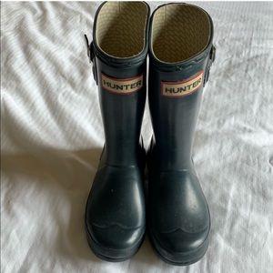 Hunter Navy Unisex Toddler Rain Boots